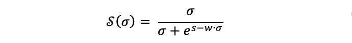 Route time S curve formula